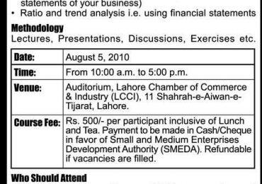 Small & Medium Enterprises Development Authority (SMEDA) 2010