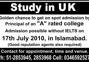 Study In Uk on the spot admissions