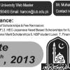 IUB Bahawalpur Scholarship 2014