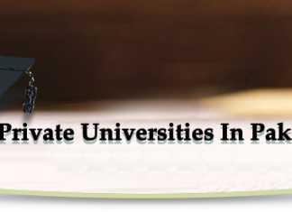 Private Universities In Pakistan