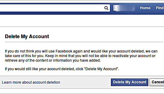 How To Delete Your Facebook Account