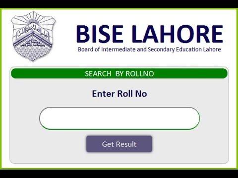 BISE Lahore Board Intermediate Part 1 Result 2018