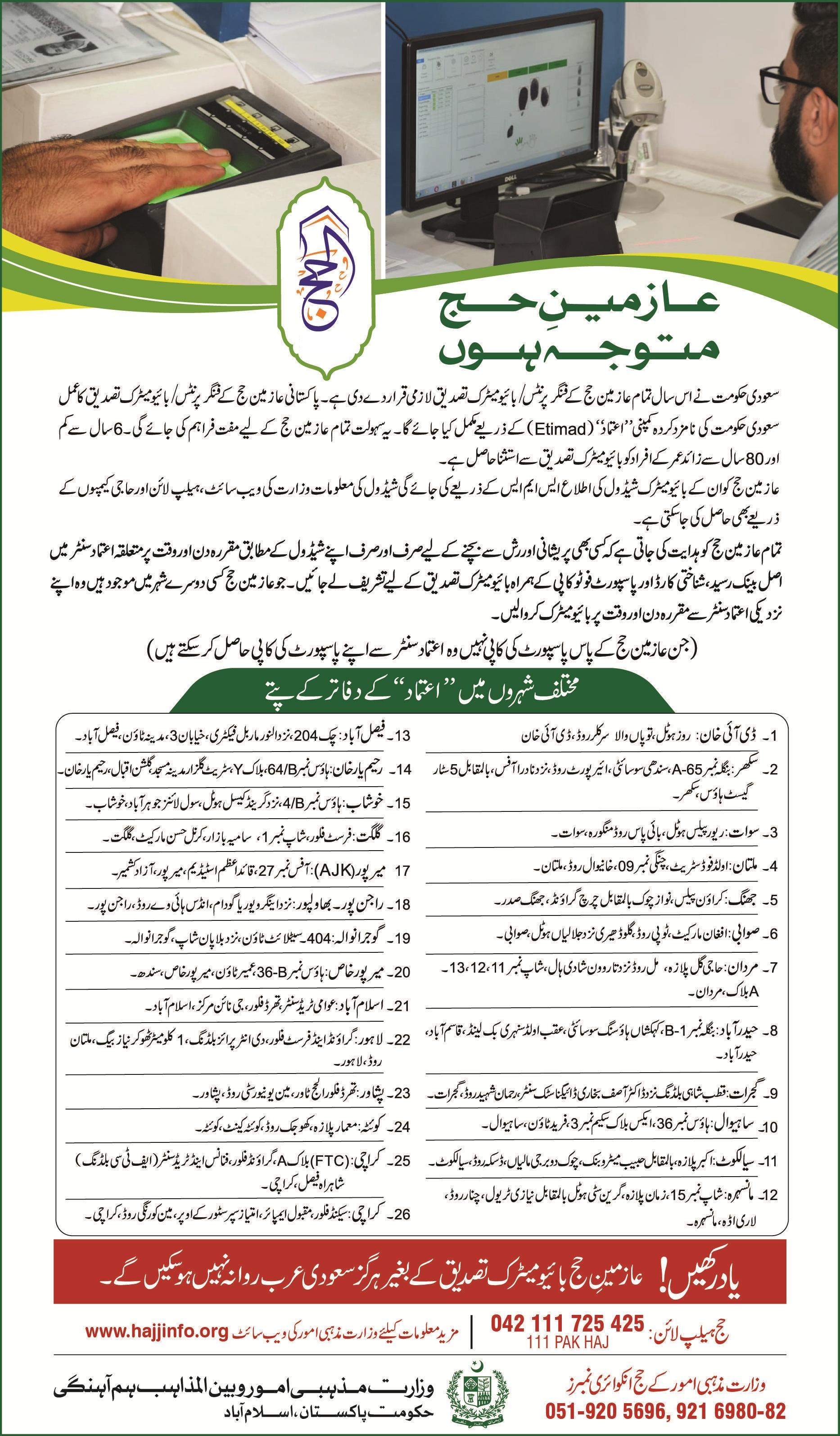 Hajj Information 2019 In Pakistan
