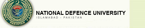 National Defence University Islamabad Spring Admission 2012
