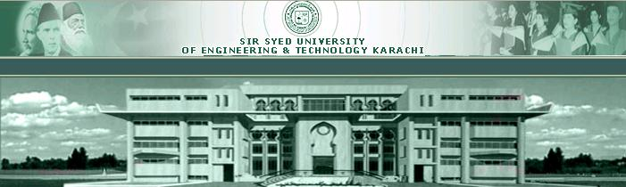 Sir Syed University Of Engineering and Technology Karachi Admission 2014