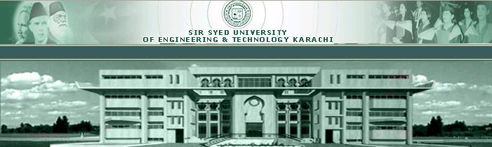 Sir Syed University Of Engineering and Technology Karachi Admissio