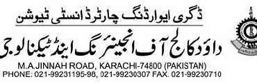DCET Karachi announced Self Finance Admissions 2012