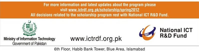National Information and Communication Technology (ICT) Scholarship Program 2012