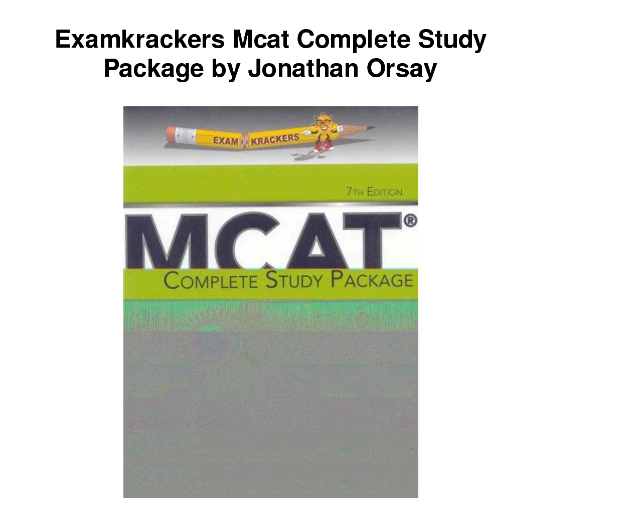 Most Recommended Books for Preparation of MCAT Test 2013