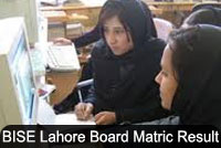 10th Class Result 2015 Lahore Board