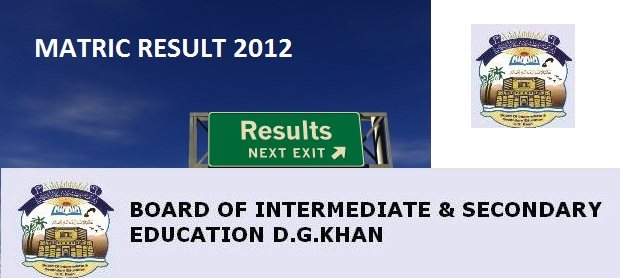 BISE DG Khan Board Matric Result 2012