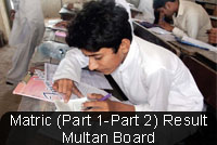 BISE Multan Board Matric Result 2014