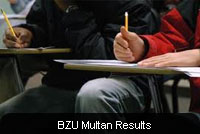Bahauddin Zakariya University BZU BA/BSc Part 1, 2 Result 2018
