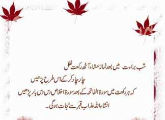 Shab E Barat Duas in Urdu