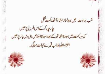 Shab E Barat Prayers And Duas in Urdu