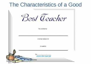 What makes a Teacher Great? Qualities of a Good Teacher
