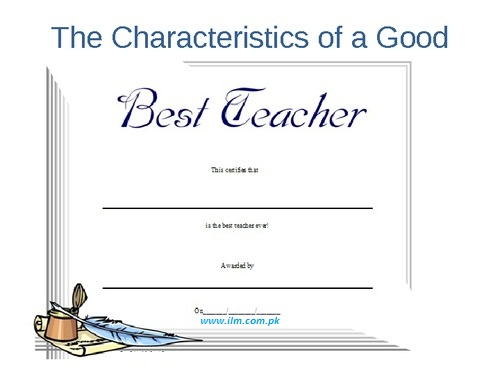 What makes a Teacher Great? Qualities of a Good Teacher