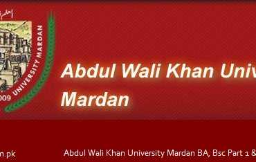 Abdul Wali Khan University Mardan AWKUM BA, Bsc Part 1 & 2 Result 2016