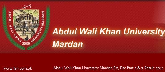 Abdul Wali Khan University Mardan BA, Bsc Part 1 & 2 Result 2012