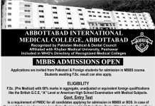 International Medical & Dental College Abbottabad Admissions 2018