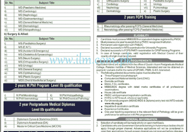 Quaid-i-Azam Postgraduate Medical College Islamabad 2012