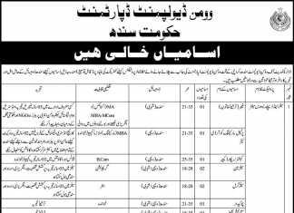 Women Development Department Govt Sindh Karachi Jobs 2012