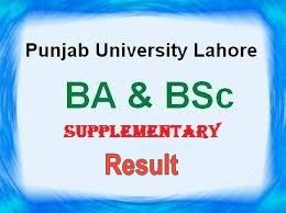 PU BA, BSc Supplementary Result 2018
