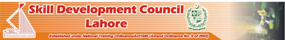 Skill Development Council Lahore Courses
