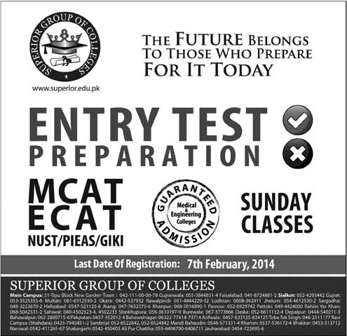 Superior College Entry Test Preparation