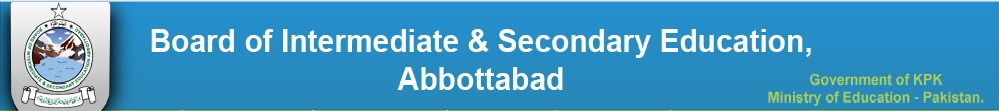 BISE Abbottabad Board SSC 9th, 10th Class Date Sheet 2016