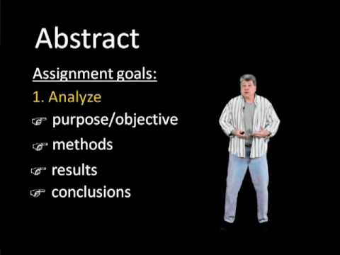 How to write abstract of a research thesis