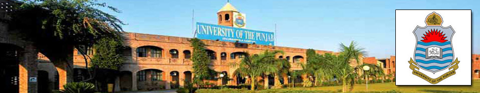 Punjab University Private MA/ MSc Subjects