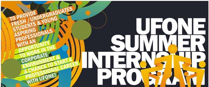 Ufone Summer Internship Program 2018