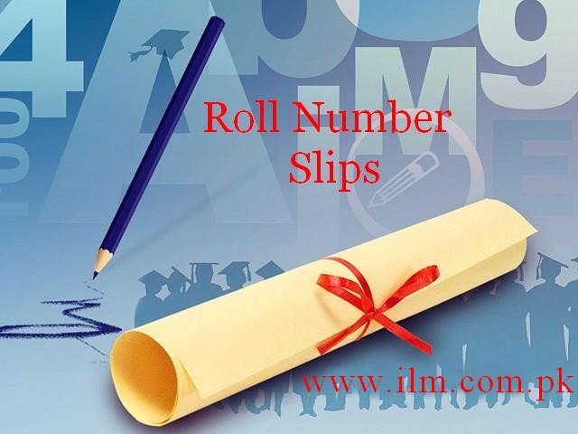 Lahore Board Inter part 2 Roll Number Slips 2016