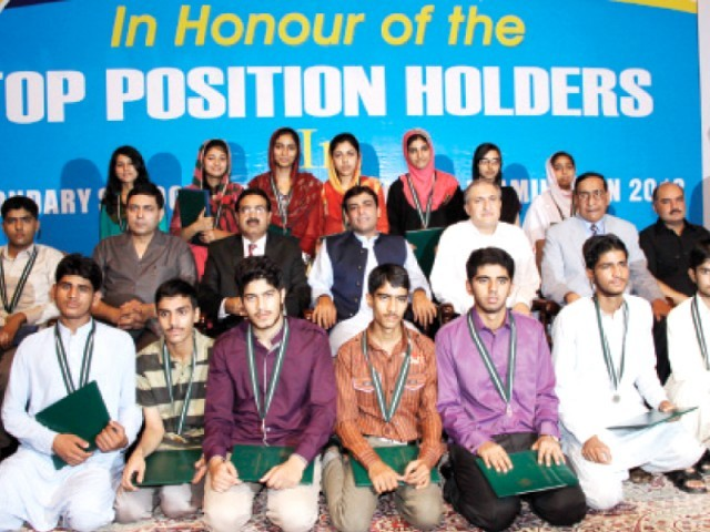 BISE Lahore Board 10th Class Result 2014, Top Position Holders