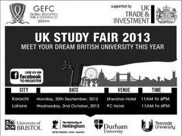 UK Study Fair 2013 in Karachi, Lahore