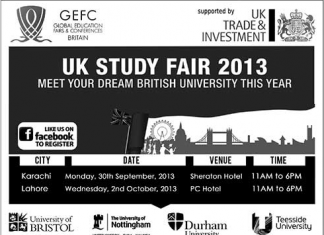 UK Study Fair 2013 in Karachi, Lahore
