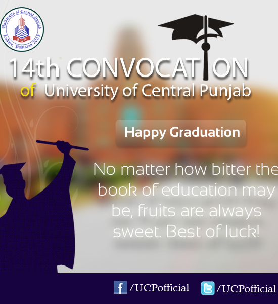 UCP 14th Convocation 2013