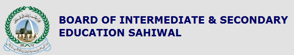 BISE Sahiwal Board Inter Part 1, 2 Date Sheet 2014