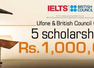 Ufone and British Council Offer 5 Scholarships