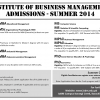 Institute Of Business Management Karachi Admission 2014