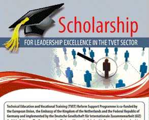 Technical Education and Vocational Training TVET Scholarship 2015