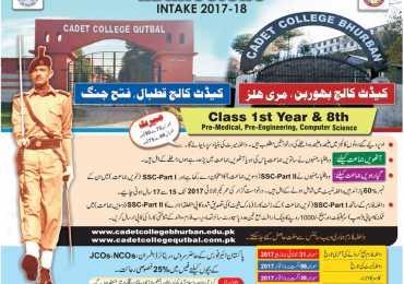 Cadet College Murree Qutbal Admission 2017 Form