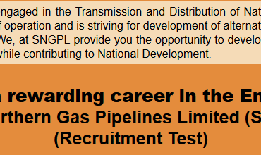SNGPL Sui Gas Jobs NTS Test Result 2016, Answer Keys