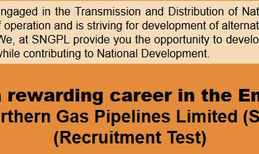 SNGPL Sui Gas Jobs NTS Test Result 2016, Answer Keys