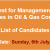 Oil & Gas Company Management & Engineer Trainees NTS Test Result 2014