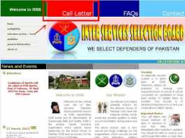 Check Online ISSB Call Letter Status 2017