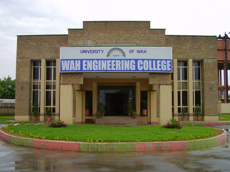WAH Engineering College Entry Test Result 2017