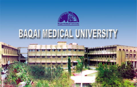 Baqai Medical University Karachi Merit List 2018