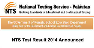 NTS Educators Test Result 2014-2015 Online ESE, SESE, SSE